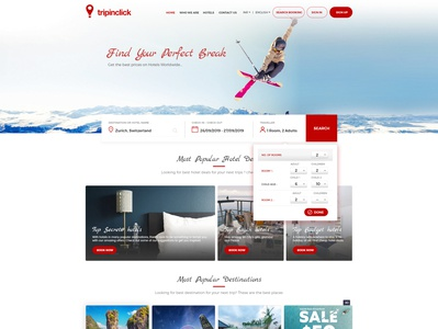 Travel Booking Website For B2C Customers