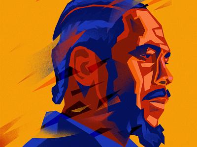 Kendrick_Lamar mixedmedia portrait illustration