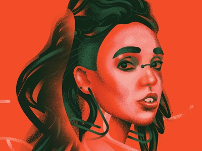 FKA fanart music digitalart illustration fkatwigs