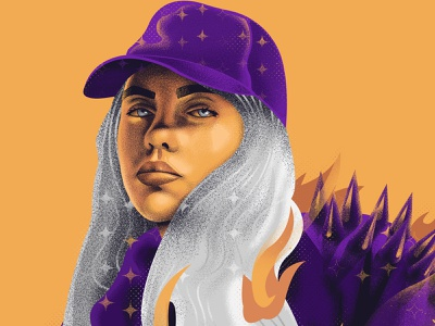 BILLIE digital painting music fanart illustration digitalart musician billie eilish