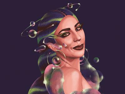 GAGA digital art adobe photoshop illustrator gaga ladygaga
