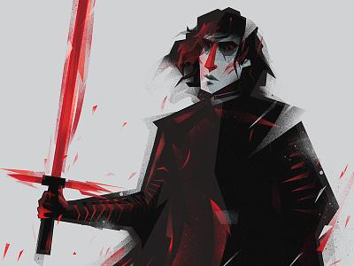 Kylo_Ren starwars bensolo kyloren fanart characterdesign illustration