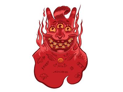 Speeddemon Totem vectorart characterdesign devil illustration