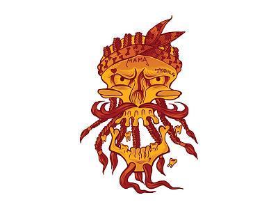 Loco Mexicano illustration mexicano loco skull digital digital illustration digitalart