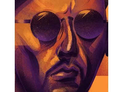 Leon fanart poster art digital painting digital art illustraion leontheprofessional
