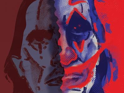 Joker_face fanart dccomics joker digital painting digitalart