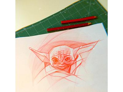 bebe_yoda bebeyoda starwars fanart doodle sketch illustration