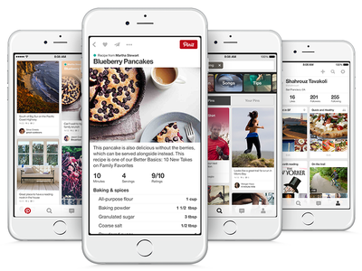 Pinterest on iOS pinterest ui typography clean ios iphone pins swiss helvetica