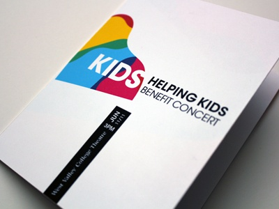 Kids Helping Kids Benefit Concert Program print event program typography booklet poster