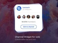 Telegram Channel Widget