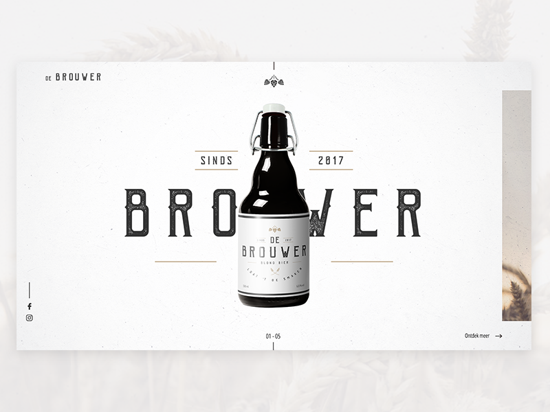 De Brouwer 01 branding website design concept beer