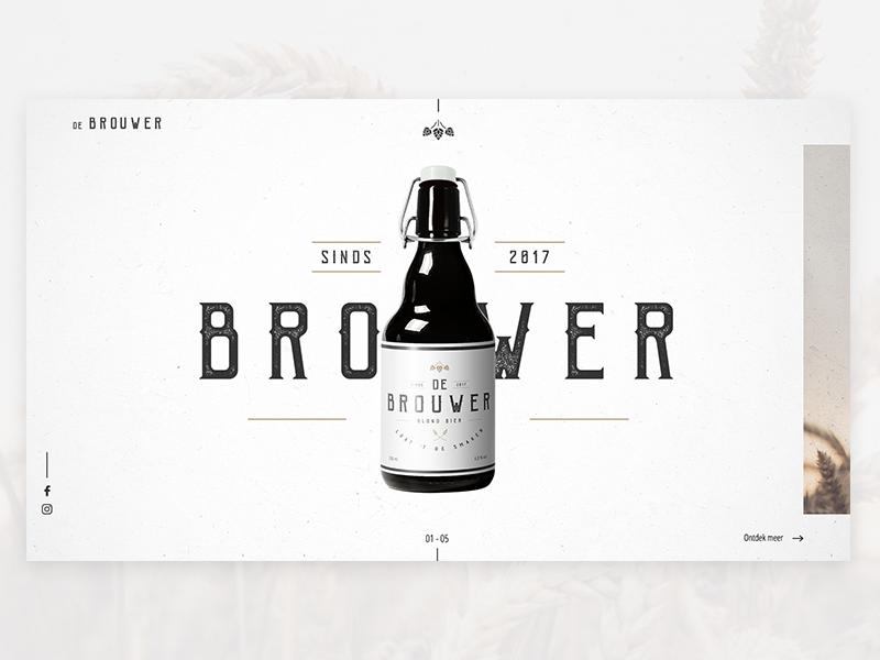 De Brouwer 01 branding website design concept beer