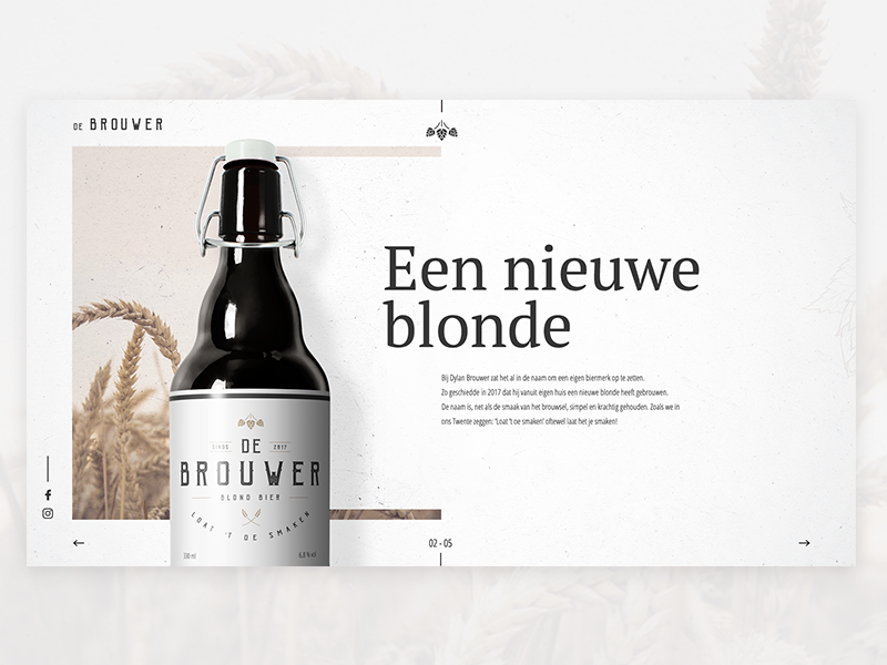 De Brouwer 02 website design concept branding beer