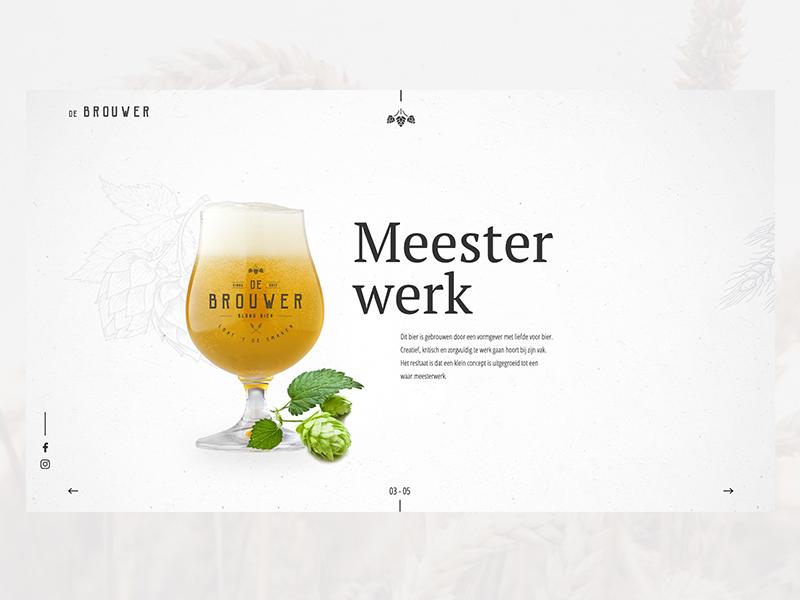 De Brouwer 03 website design concept branding beer