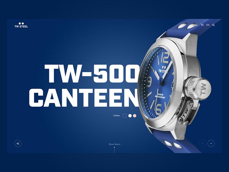 TW Steel webdesign web landingpage ui design blue watches watch twsteel steel tw