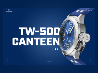 TW Steel webdesign web landingpage ui design blue watches watch twsteel steel tw