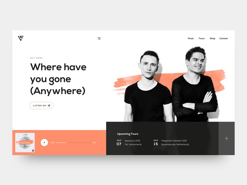 Lucas & Steve dutch spotify cover music dj lucasandsteve adobedesignremix design ui landing page webdesign