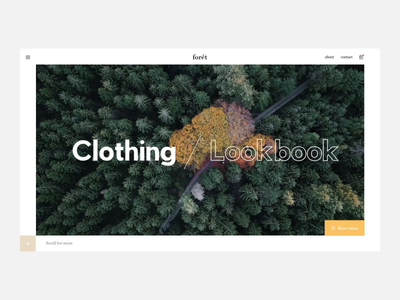 forét shop lookbook clothing fashion foret concept animation webdesign ui design