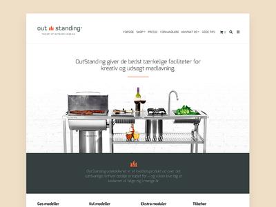 E-commerce design for exclusive grill brand brand e-commerce design e-commerce