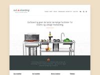 E-commerce design for exclusive grill brand