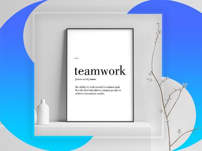 teamwork teamwork poster
