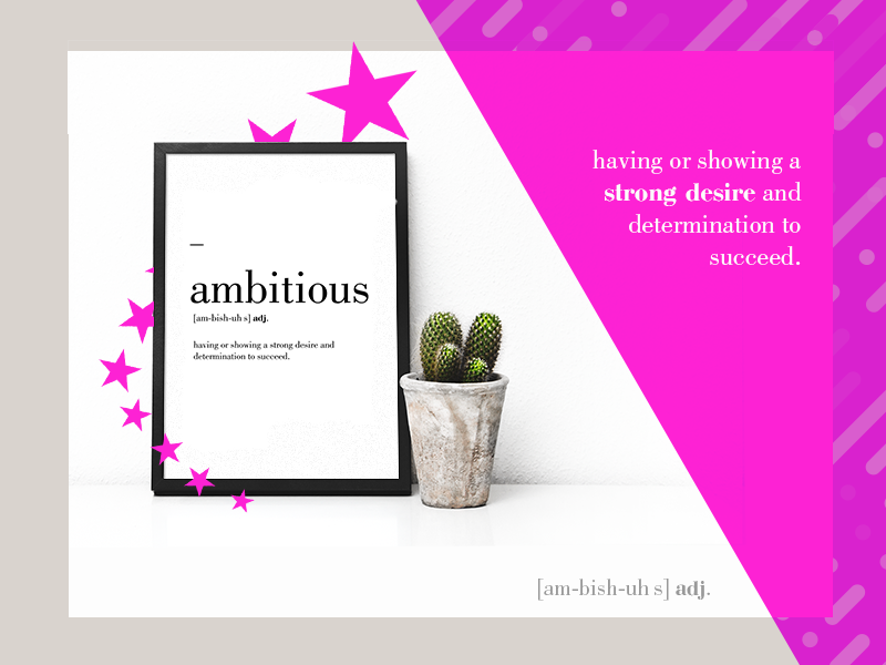 ambitious poster colors design startup office workspace ambitious