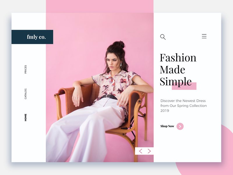 Fashion frontpage - Daily eCommerce #3 e-commerce design ui branding e-commerce brand design shopdesign ecommerce shop colors
