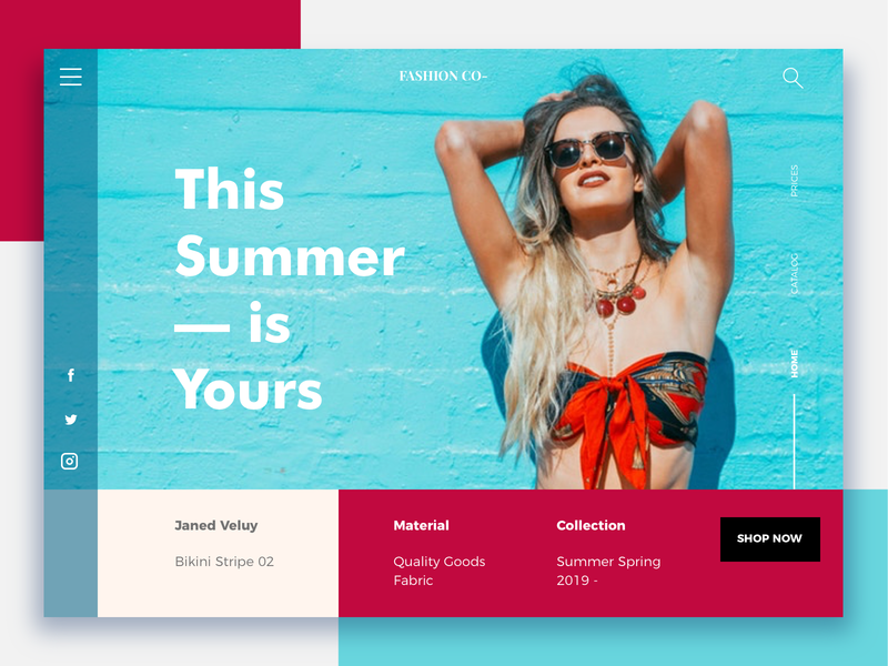 Summer 2019 - Daily eCommerce #4 e-commerce design e-commerce branding brand ui design shopdesign ecommerce shop colors