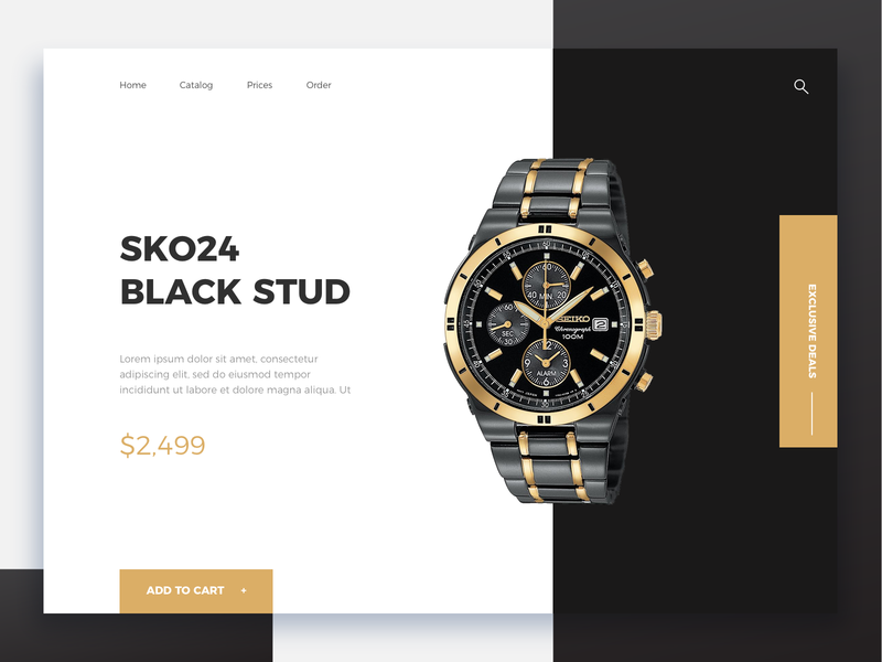 Product showcase - Daily eCommerce #6 ambitious onepage e-commerce design e-commerce branding design brand shopdesign ecommerce shop colors