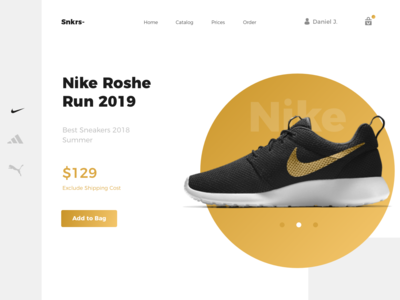 Product showcase - Daily eCommerce #9 onepage e-commerce design e-commerce branding brand shopdesign ecommerce shop colors