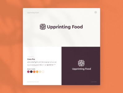 Logo Design 3D Printing Company   Upprinting Food