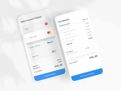 Mobile Payment App | Hospitality apple pay blue payments payment payment app app design app modern ui design uidesign ui