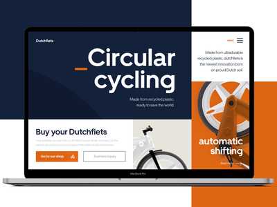 Sustainable Bicycle Website Concept circular bicycle bycicle bike website ui uidesign website design web design webdesign ui design modern web