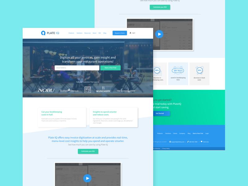Homepage ui flat parallax web web design homepage
