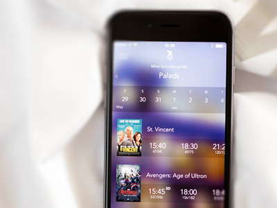 Nordisk Film Cinema - iOS App movies nordisk film nfbio denmark background blur colorful posters cinema app ios