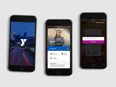 YMCA Check-In App check in minneapolis mockup iphone branch fitness check-in ios mobile ymca