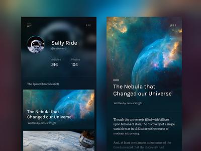 Space Explorer App space exploration universe stars nebula astronaut app ios space