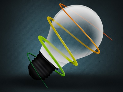 Lightbulb Icon icon lightbulb photoshop gradients swirl