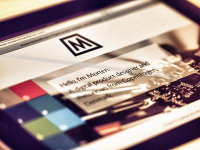 Personal site - mortenchristoffersen.com personal website responsive business card website