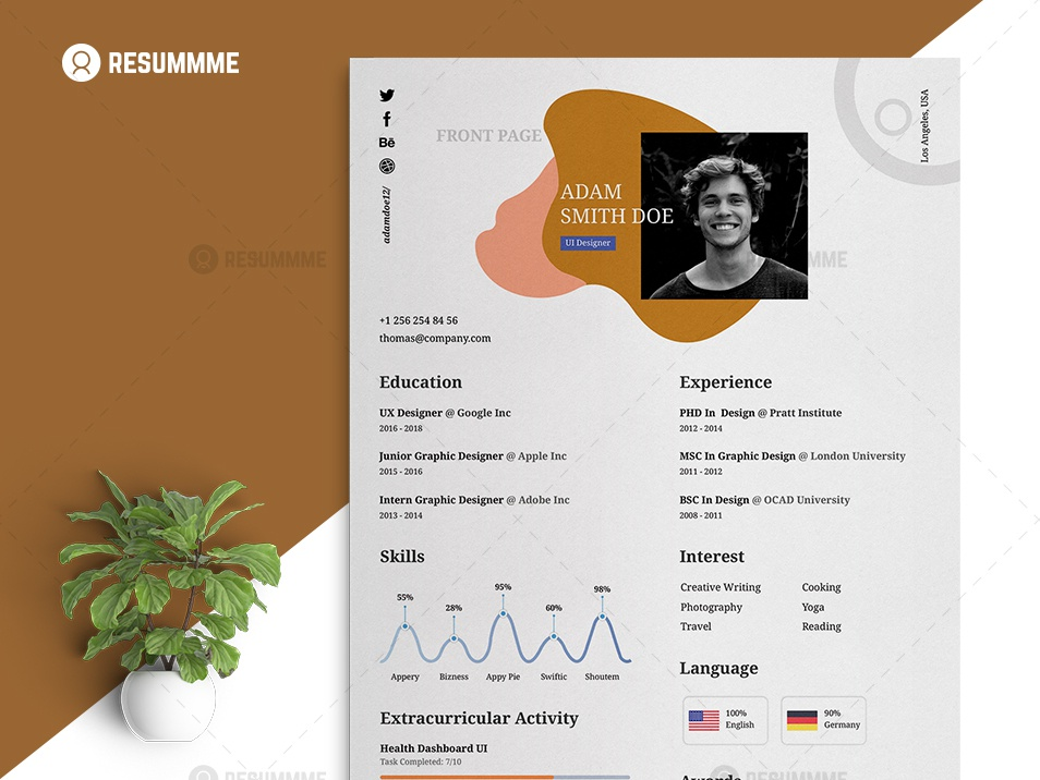 Graphic Designer Resume Template By Alemam Mir On Dribbble