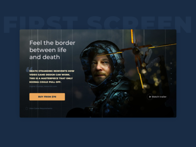 Daily UI :: 003 — Landing Page