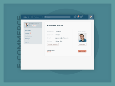 Daily UI :: 006 — User Profile