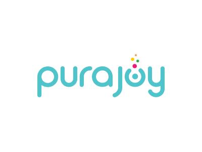 Branding new company Purajoy bubbly creative logo brand guidelines branding