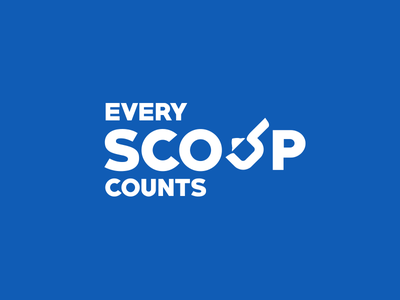 Every scoop counts campaign branding protein creative art direction logo sports branding