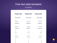 Text Styles template
