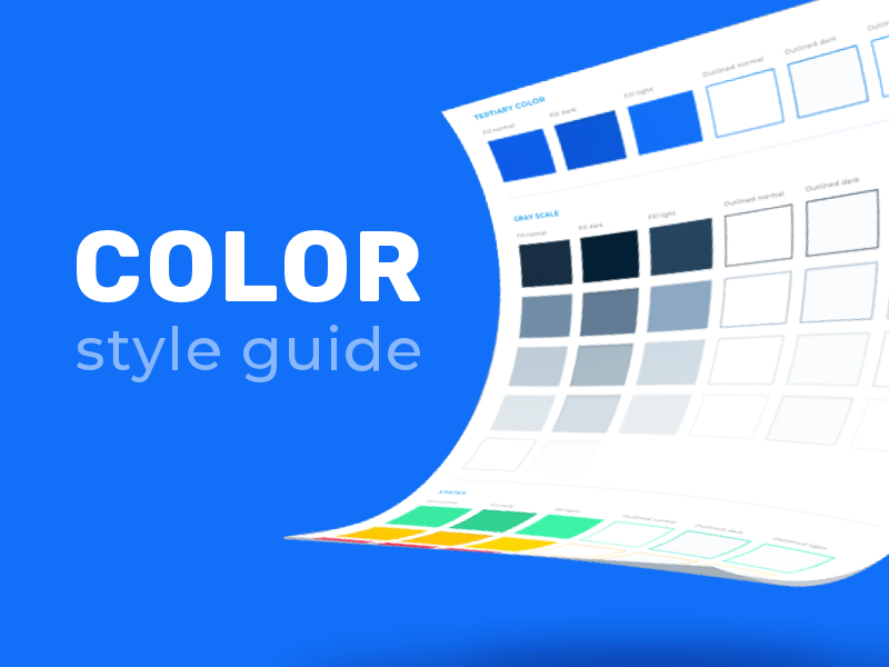 Color Style Guide color guide color palete download style guide ui sketch sketch app template free templates free template