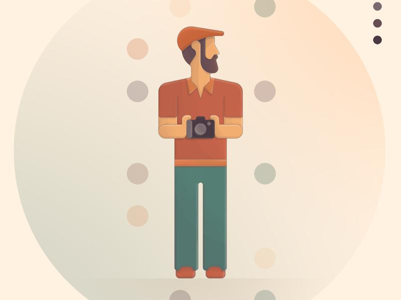 Photographer digitalart circulos digital art dibujo digital animación marca vector web aplicación color icono ilustración diseño logo