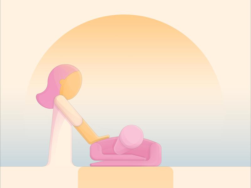 Ilustración Massages NoeNatura graphic  design flyers plano photoshop arte digital dibujo digital circulos logo icono color aplicación web vector marca ilustración diseño animación