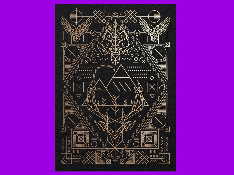 Geometric Design illustraion illustration art geometric design gold foil geometric art pattern