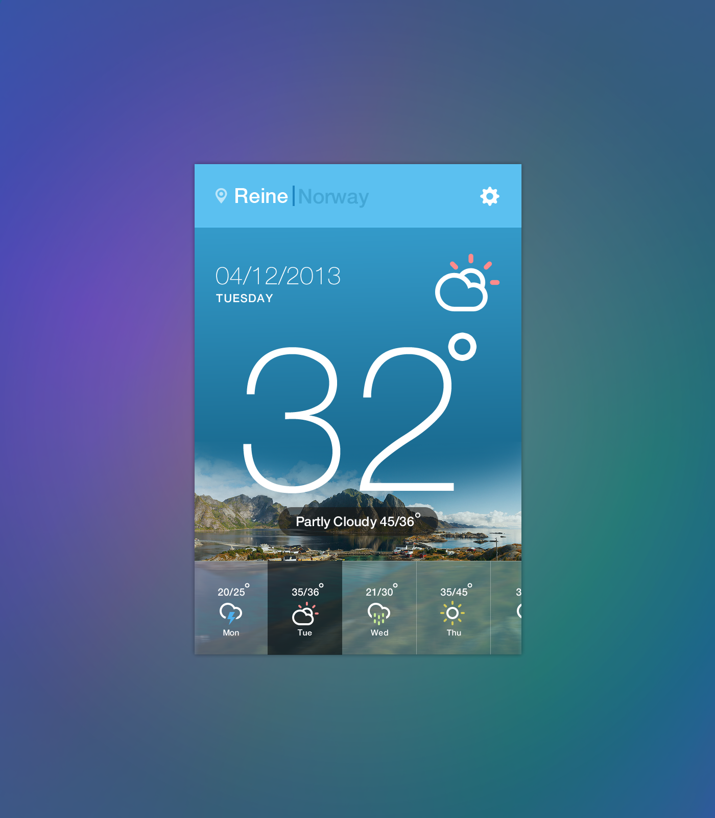 Weather widget hd